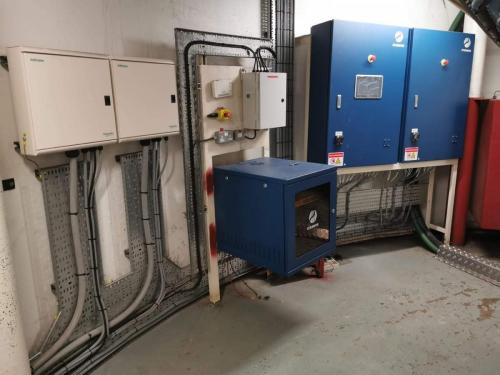 Main electrical cabinets and distribution