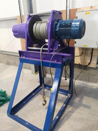 Tensioning winch supplied and installed