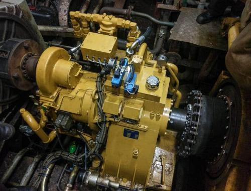Remanufactured Mekanord gearbox after installation
